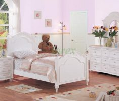enchanting white bedroom furniture for girls with pink wall