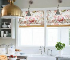 enchanting floral flowers kitchen window treatment ideas decor