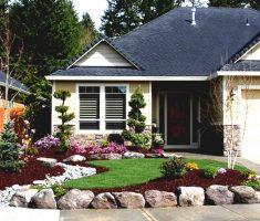 enchanting landscaping ideas for front yard of a ranch style house