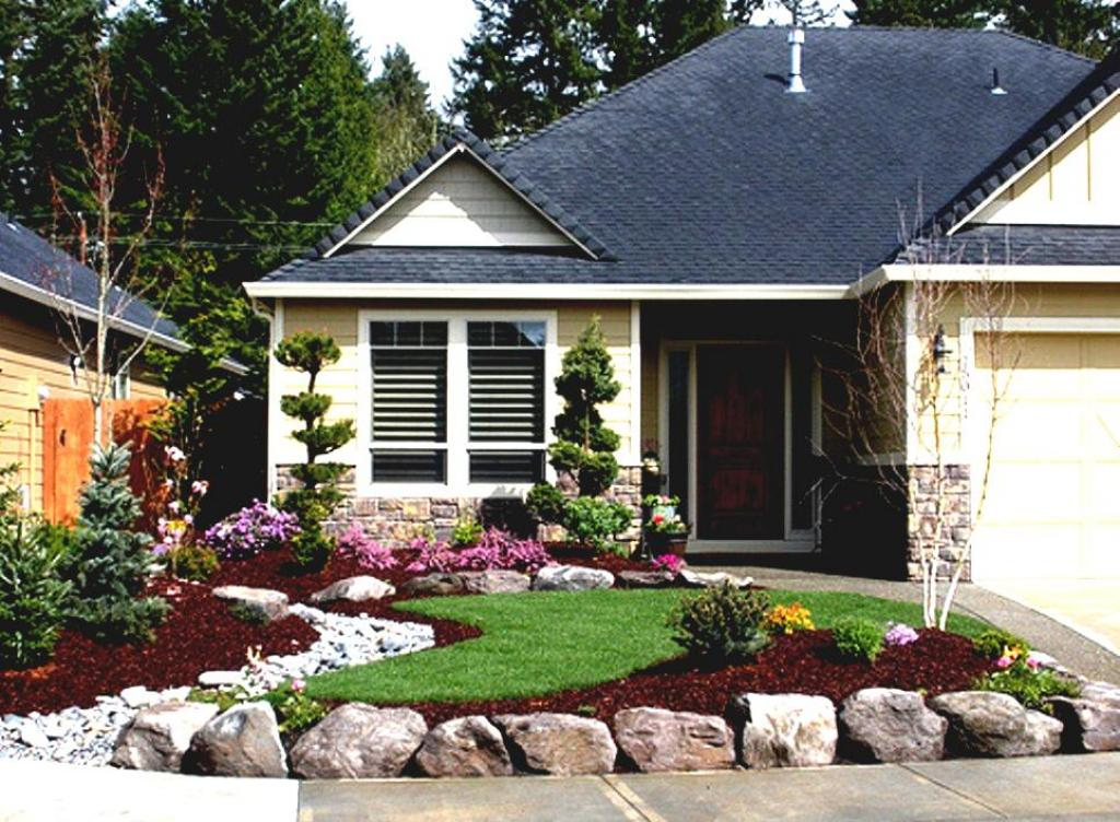 Enchanting landscaping ideas for front yard of a ranch for Landscaping ideas for front of ranch style house