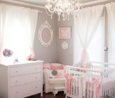 enchanting small nursery baby girl rooms grey and pink theme