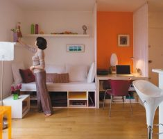 exciting-small-space-decoration-with-living-room-and-kitchen-one-place