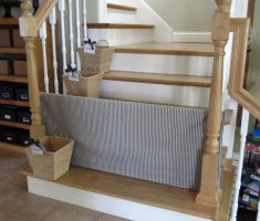 fabric diy baby gates for stairs