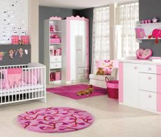 fabulous nice baby girl rooms grey and pink theme colors with pink and white nursery baby furnitures
