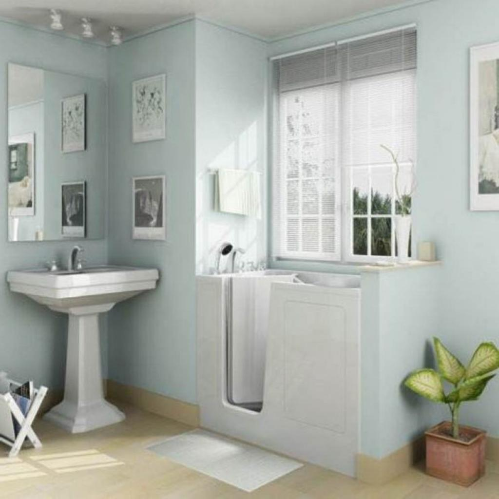 Fancy small bathroom remodelling home inspiring for Small bathroom remodel plans
