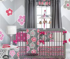 fancy modern baby girl rooms with stylish colors theme