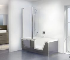 futuristic freestanding bathtubs with shower