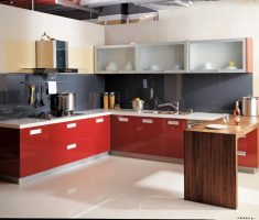 glass cabinet kitchen design for small modern kitchen l shaped