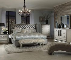 glossy dark grey cushion headboard bedroom sets for royal queen master bedrooms
