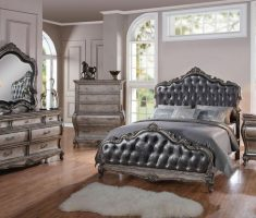 glossy grey cushion headboard bedroom sets for master bedroom