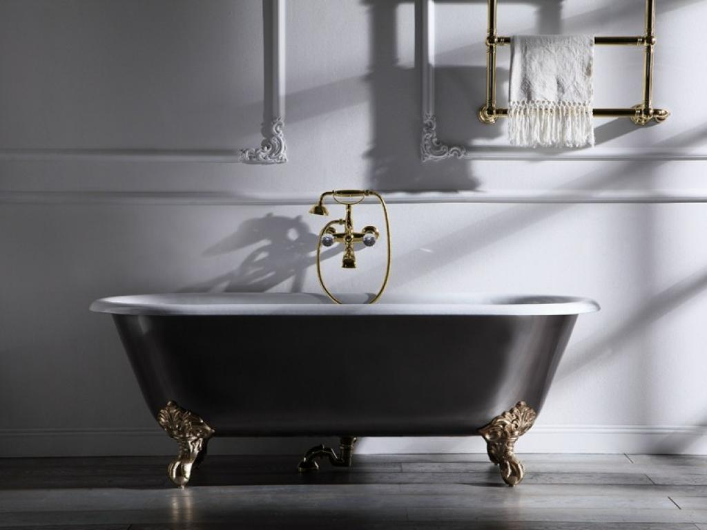 gold-freestanding-clawfoot-with-black-bathtubs u2013 Home Inspiring