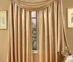 golden drapery valances window treatments