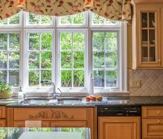 good looking floral valance kitchen window treatment ideas