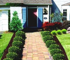 good looking landscaping ideas for front yard of a ranch style house with step path