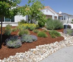 great landscaping ideas for front yard with rocks