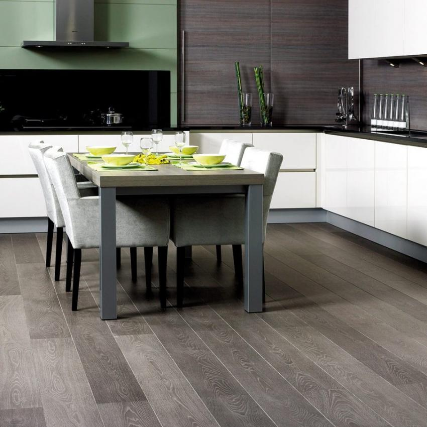 Grey laminate flooring ikea kitchen dining room home for Kitchen laminate flooring