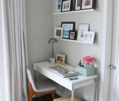 grey theme diy office home small space decoration