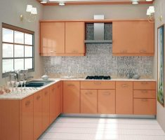 l shaped small cabinet kitchen design