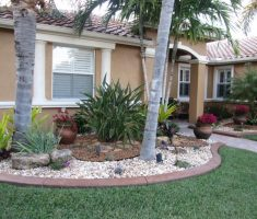 landscaping ideas for front yard with rocks