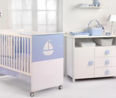 light blue violet theme baby nursery furniture by cambarss