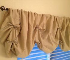light brown diy valances window treatments
