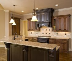 luxurious kitchen remodelling with wooden kithen material cabinets