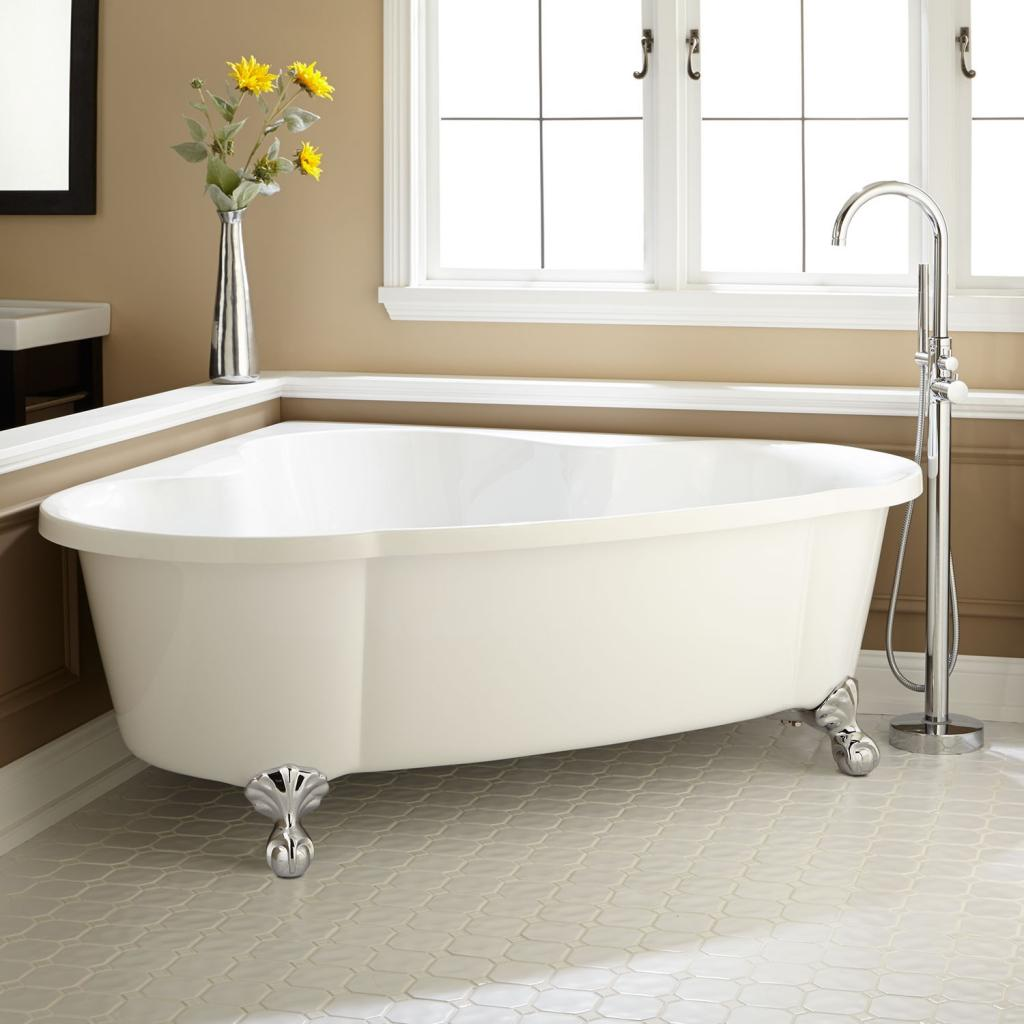 Luxurious corner freestanding clawfoot bathtubs home for Free standing bath tub