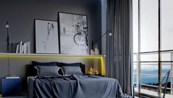 masculine-grey-bedroom-for-men-with-shade-wall-grey-apartment