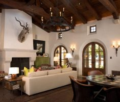 mediterranean spanish style homes interior living room