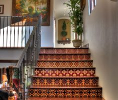 mediterranean spanish style homes interior stairs decor