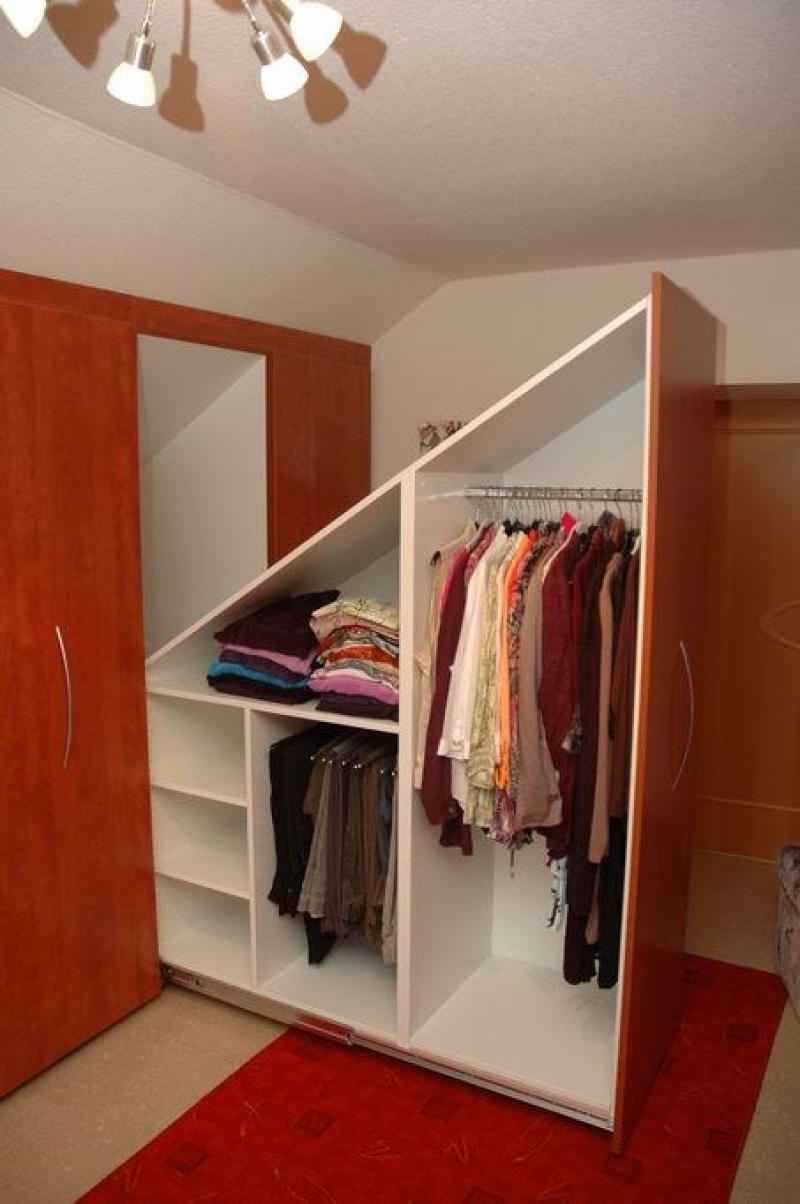 Stock up on plastic hangers or wood hangers and place your clothes in plain sight. Affordable and agile, a hanging closet organizer can create new nooks and drawers for your clothes. Try a hanging closet shelf to store you most used scarves or favorite t-shirts. Closet drawers or closet shelves might be all you need to eliminate clutter.
