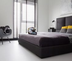 minimalist-bedroom-for-men-with-white-wall-decor