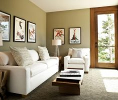 minimalist-small-space-decoration-living-room-with-framed-photo-wall-decor