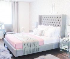 minimalist and feminime gloss white bedroom furniture for woman