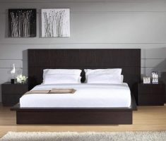 minimalist and simple brown headboard bedroom ideas