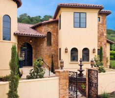 minimalist and small mediterranean tuscan style homes