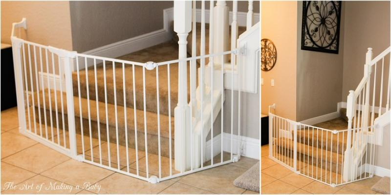 minimalist-white-baby-gates-for-stairs-with-no-walls
