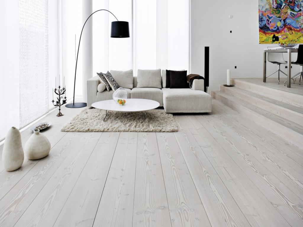 Minimalist White Grey Laminate Flooring Living Room Home Inspiring