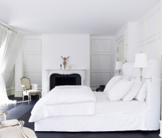 modern gloss white bedroom furniture with all white bedroom theme colors