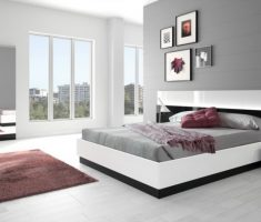 modern and classical gloss white bedroom furniture with white and grey bedroom theme colors