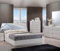 modern and creative mirrored headboard bedroom set