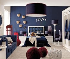 modern boys room ideas blueand white theme