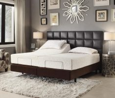 modern brown headboard bedroom ideas leather materials