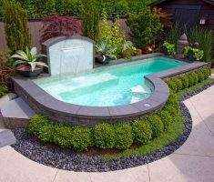 modern cute inground swimming pools for small backyards
