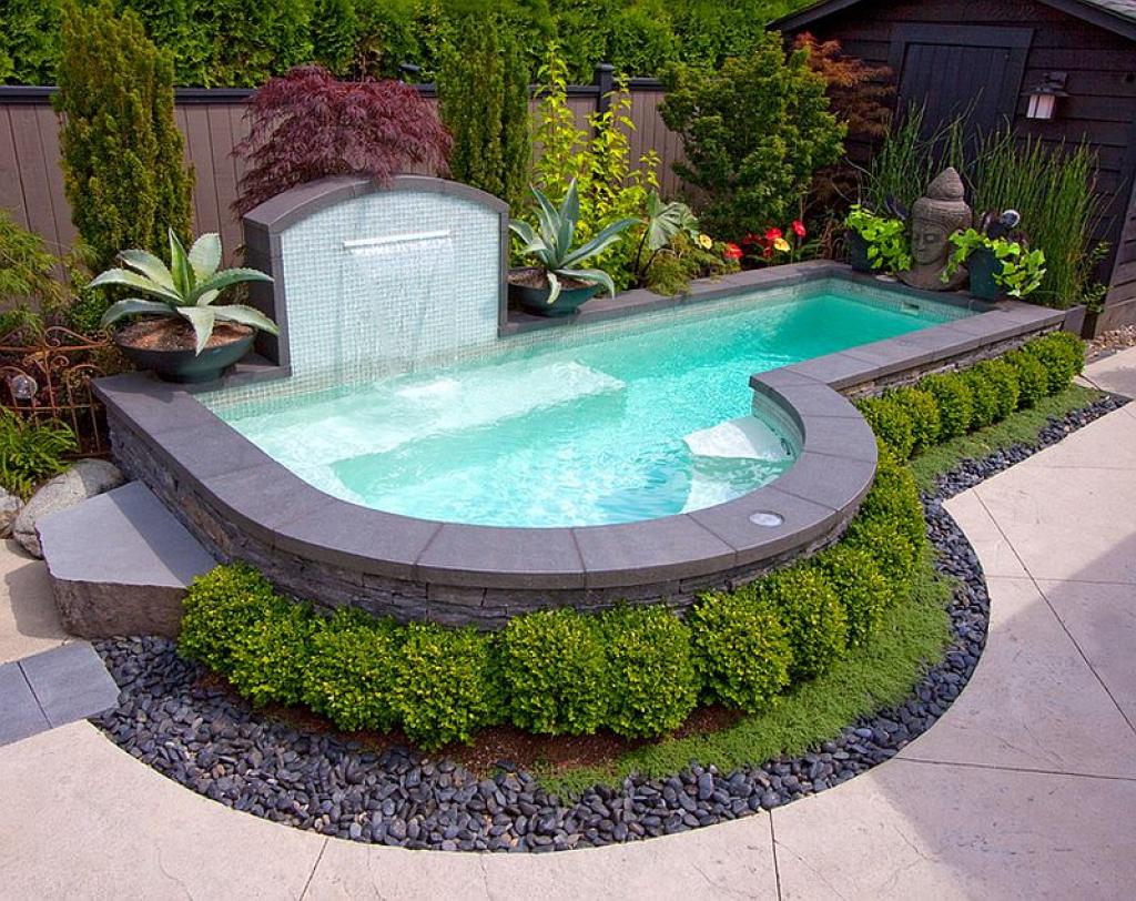 modern cute inground swimming pools for small backyards. Black Bedroom Furniture Sets. Home Design Ideas