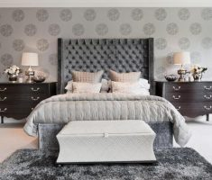 modern grey headboard bedroom ideas