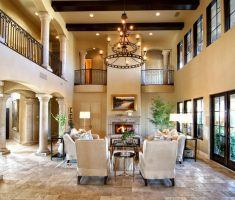 modern itnerior tuscan style home interior living room