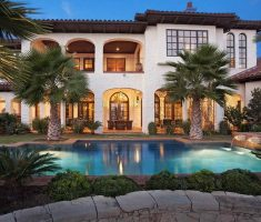 modern mediterranean tuscan style homes with pool
