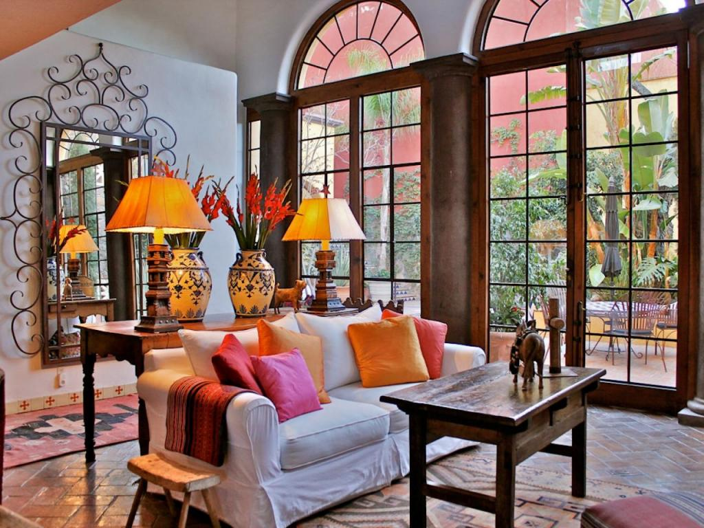 Modern Mexican Interior Design Living Room Decoration For
