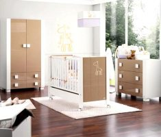 modern minimalist baby nursery furniture by cambarss brown and whtie theme